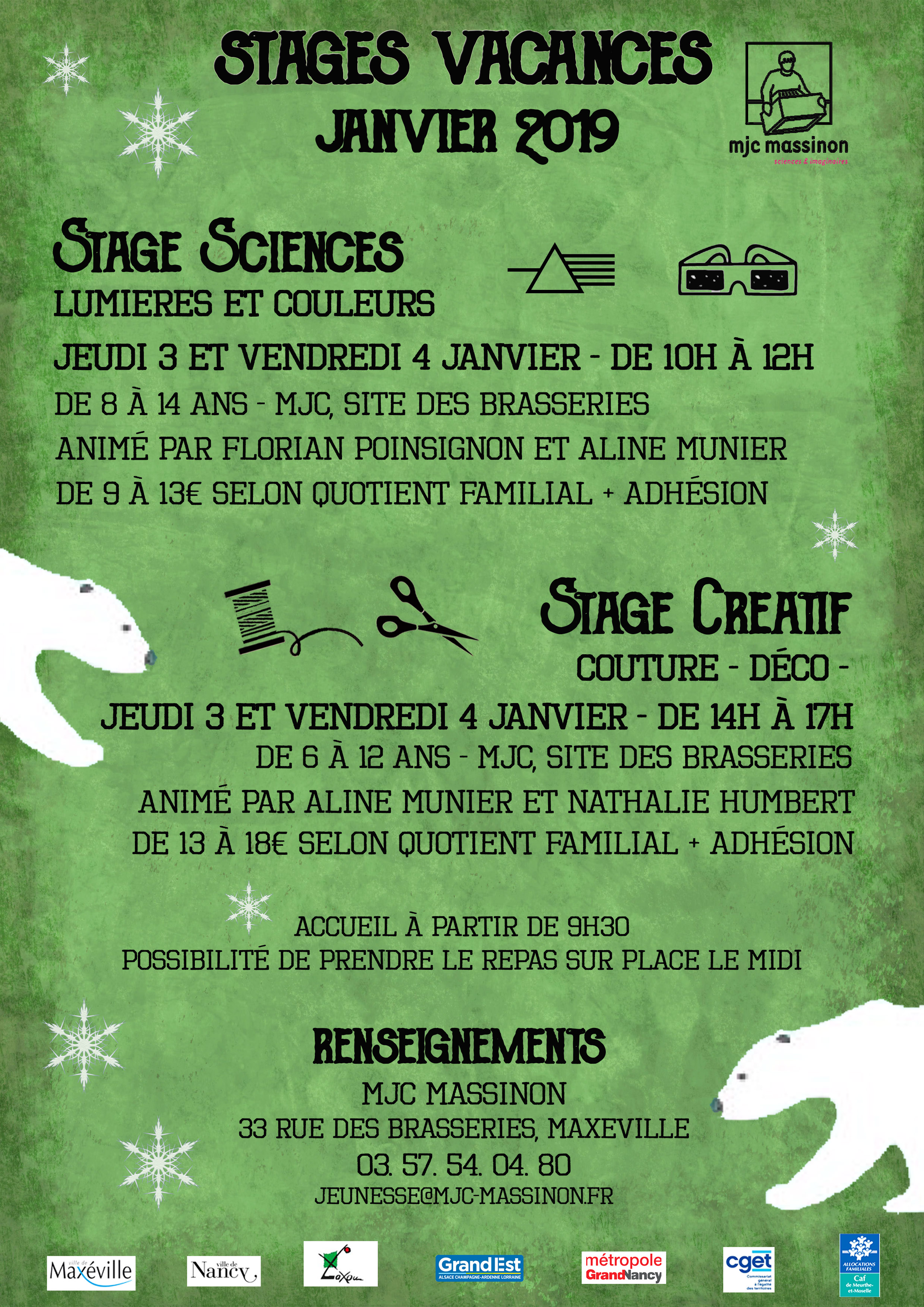 stages janvier